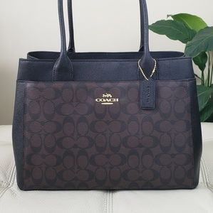 Coach Signature Casey Tote Brown/Black